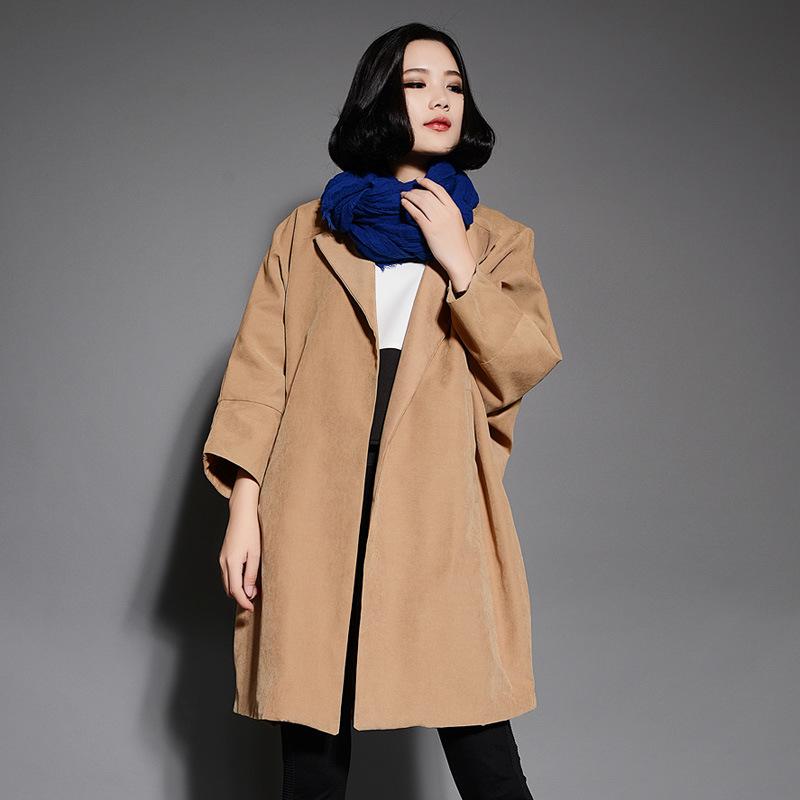 Fall Brand Aqua Pure polyester windbreaker jacket coat sleeve Loose 2014 fall fashion women