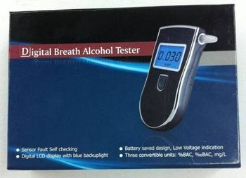 Professional Police Digital Breath Alcohol Tester Breathalyzer