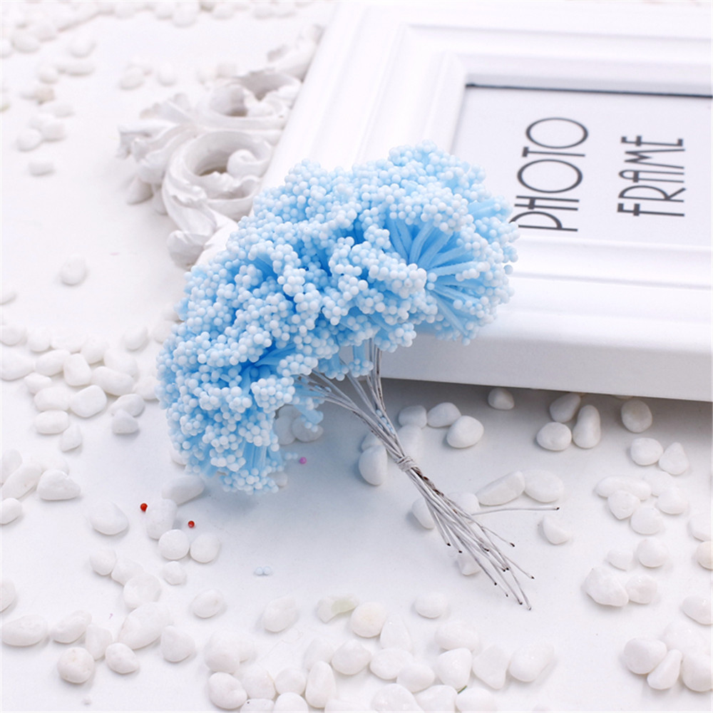 new 12pcs Foam Baby's breath Artificial Flower For Wedding Home Party Decoration DIY Scrapbooking Decorative Wreath Fake Flower