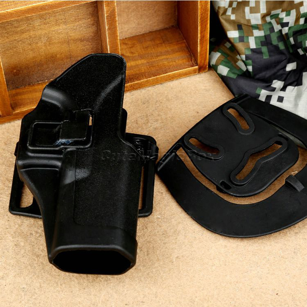Polymer Black Airsoft Quick Draw Right Handed Gun Holster Pouch Case w/Paddle Waist Belt Fit for Glock 17 18 19 23 26 32 Hunting(China (Mainland))