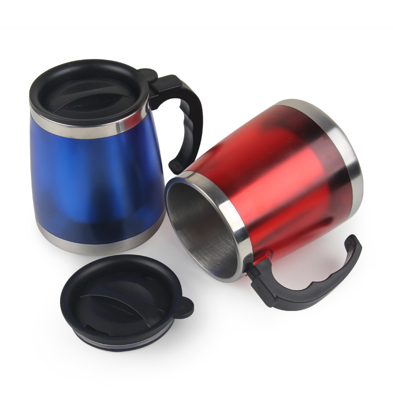 450ml Stainless Steel Thermocup Small Termica for Tea Drink Travel Bottle Mini Hot Cold Water Coffee Mug with Lid Beer Cup Gift(China (Mainland))