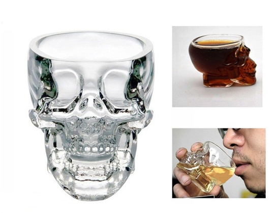 74 ml Crystal Skull Head Vodka Shot Glass Cup Search (Transparent)(China (Mainland))