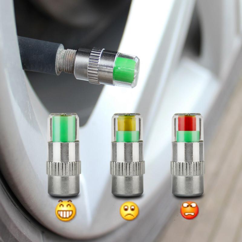 4PCS 2.0Bar 30PSI Car Auto Tire Pressure Monitor Valve Stem Caps Sensor Indicator Eye Alert Diagnostic Tools Kit(China (Mainland))