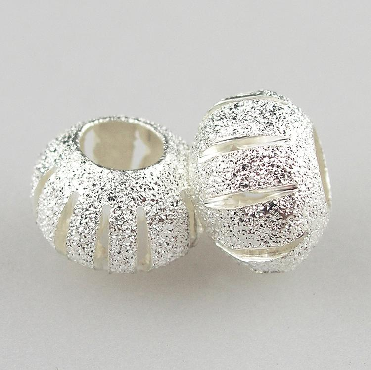 Free Shipping 1 Pc Jewelry Women Sliver Plated Bead Charm European Alloy Round Beads Fit Pandora Bracelets & Bangles YW15218(China (Mainland))