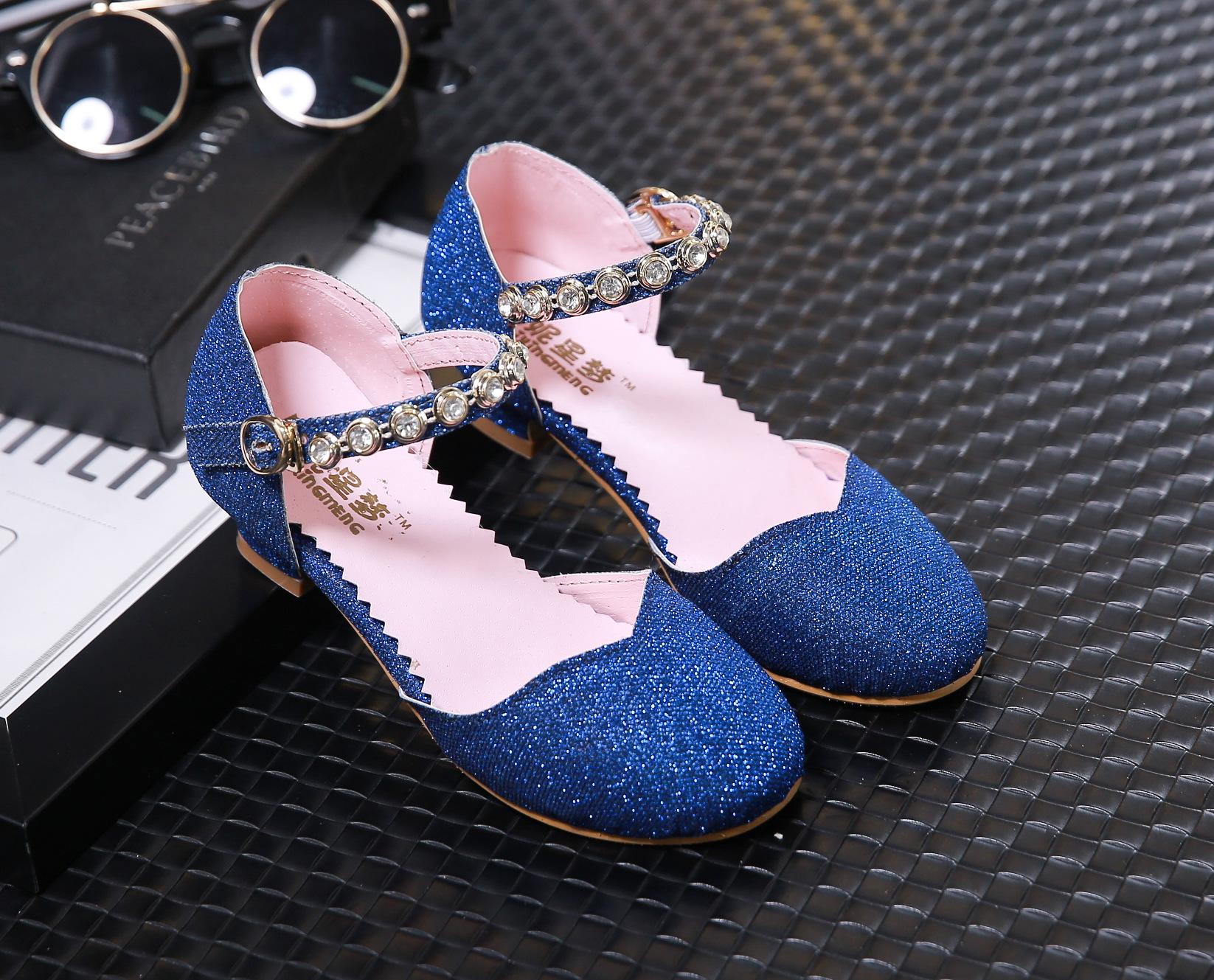 Girls Silver High Heels