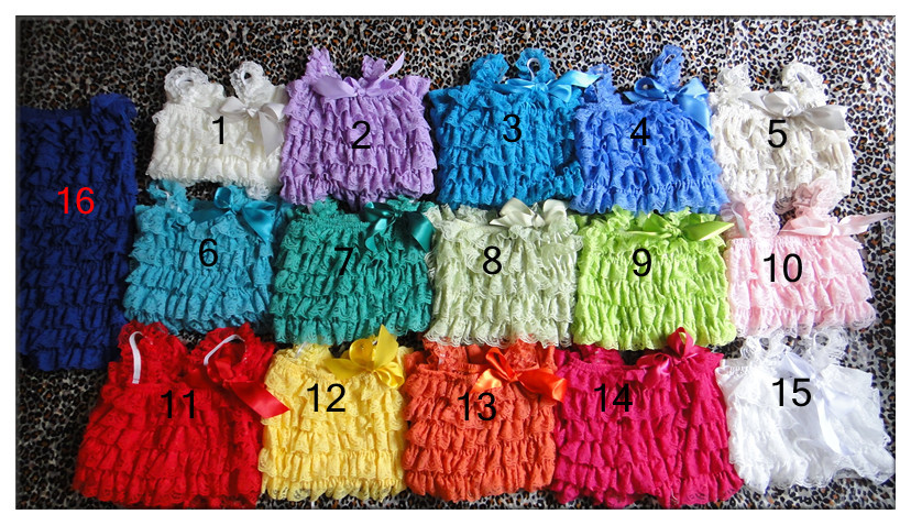 Wholesale Colorful Baby Romper Patten Lace Petti Rompers Girls Lace Rompers 3 size infant clothing baby stores 15 pcs/lot(China (Mainland))