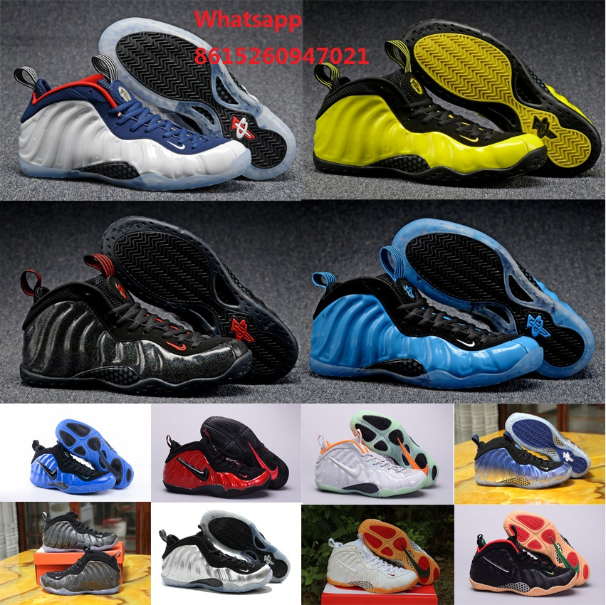 New 2016 mens air penny hardaway shoes USA OlympIc pure platinum hyper cobalt optic yellow galaxy with original box(China (Mainland))