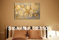 large canvas wall art Modern abstract lily wall handmade picture oil painting for sale living room