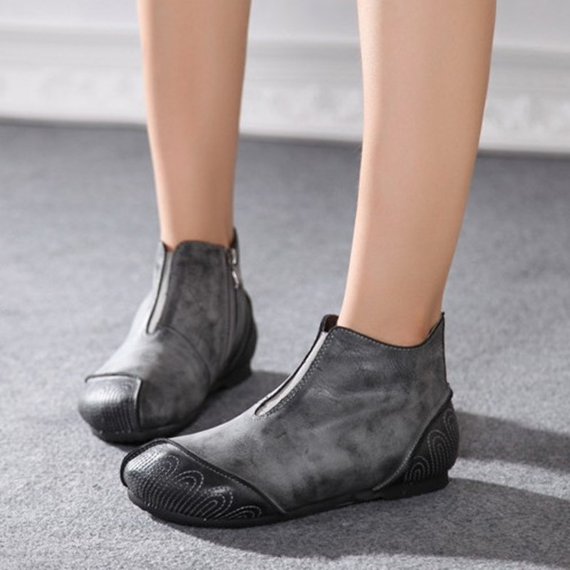 Здесь можно купить  Vintage personality handmade genuine leather boots spring and autumn single boots comfortable casual flat boots women