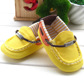 2016 NEXT New Bright Lemon Yellow Baby Boys Girls First Walkers Infant Kids Toddler Shoes Bebe Soft Sneakers Free Shipping