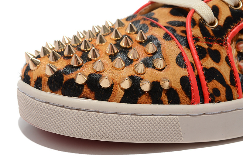 christian louboutins for men - Red bottom men shoes fashion high top spikes flat sneakers Leopard ...