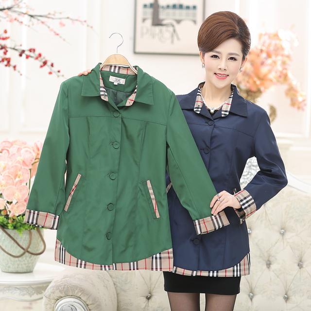 Мода Мать одежды женщин осень-весна верхняя одежда женский длинными рукавами средней ...