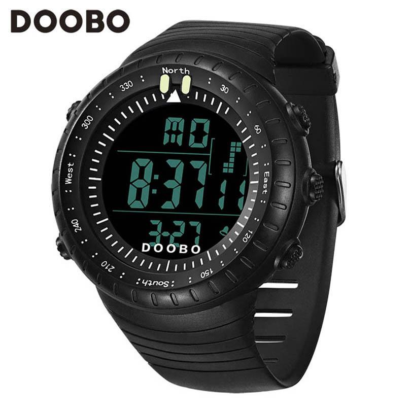2016 New DOOBO Luxury Brand Men LED Digital Military Watches Fashion Sports Watch Dive Swim Waterproof Casual Wristwatches Hot(China (Mainland))
