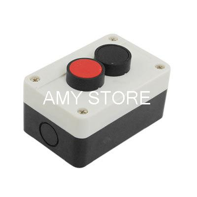 Red Black 2 Switch Push Button Control Box Station 660V(China (Mainland))