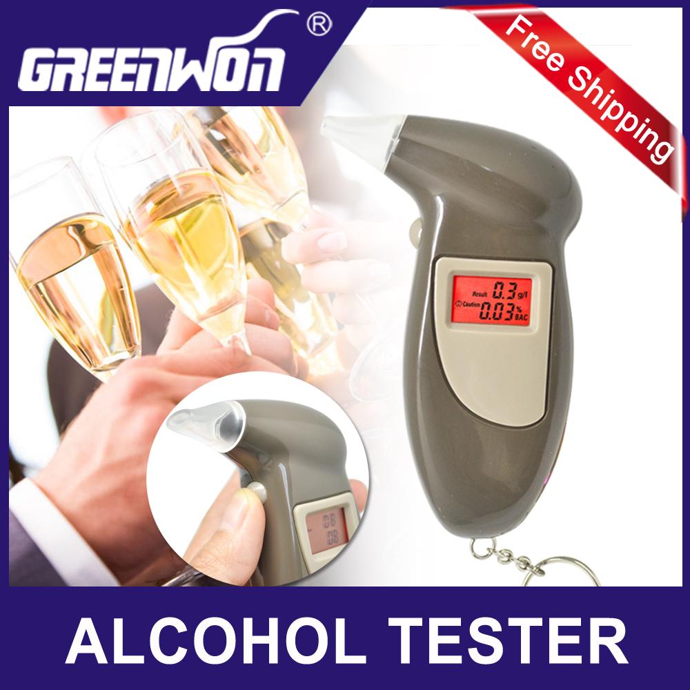 +Send 10 Mouthpiece Digital LCD Backlit Display Key Chain Alcohol Tester, Digital Breathalyzer, Alcohol Breath Analyze Tester(China (Mainland))