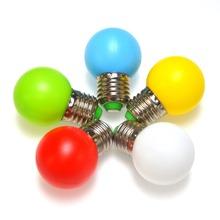 E27 LED Light 1W Energy Saving Mini LED Bulb Lamp 110-220V Night Light Decoration 5 Colors White/Red/Blue/Green/Yellow 10pcs/lot(China (Mainland))
