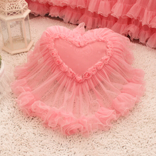 Romantic pink heart candy square cushion cover  for girls