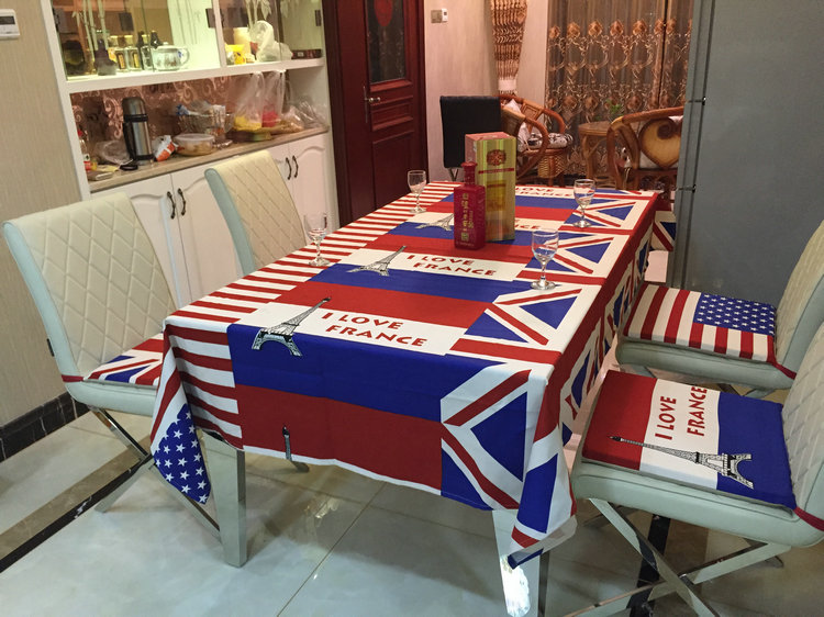 American Flag Classic European Style Tablecloths, Linen Tablecloths American Country Style Table Cloth Party(China (Mainland))