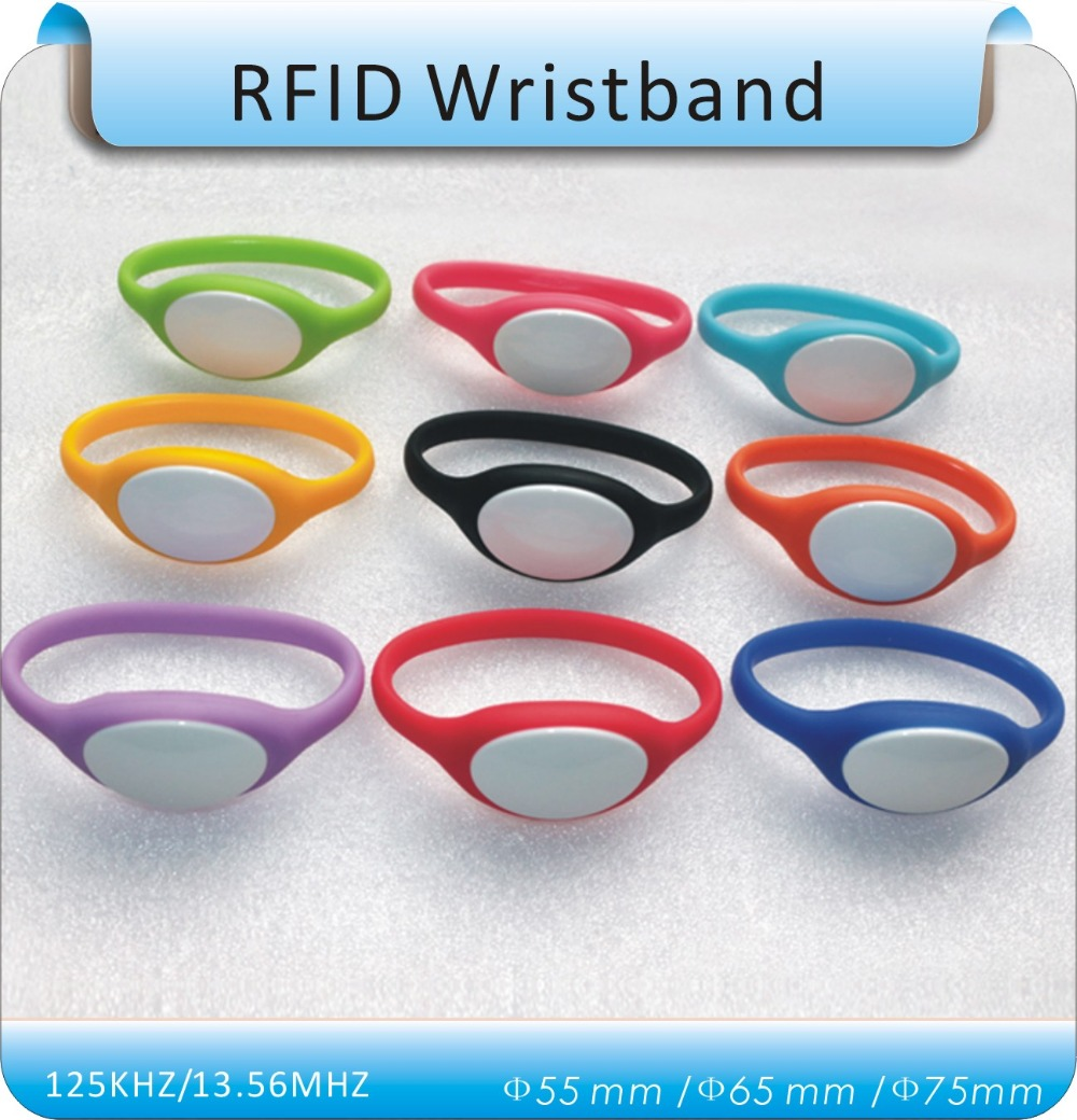50pcs 4# RFID125Khz RFID Wristband  Silicone EM4100 Waterproof Proximity Smart Card Watch Type for Access Control<br><br>Aliexpress