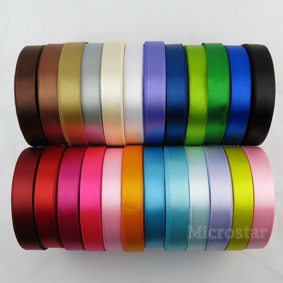 Silk Satin Ribbon 15mm 25 Yards 22 Meters Wedding Party Decoration Invitation Card Gift Wrapping Christmas Supplies 23 Colors(China (Mainland))