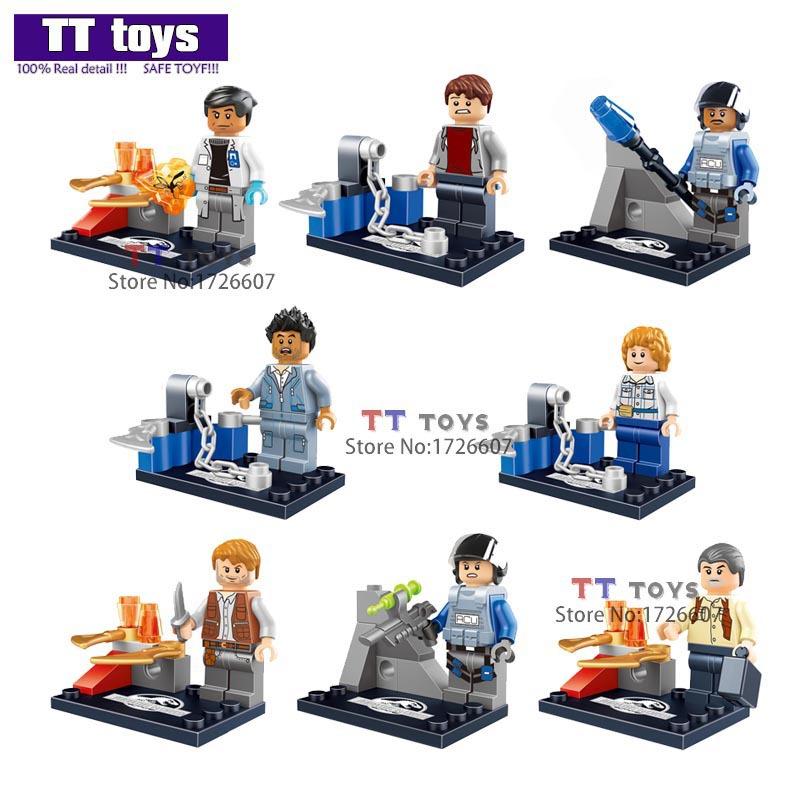 Детское лего Lele 8pcs Minifigures Minifigures Jurassic World детское лего elephant minifigures 16 diy jx1001 1002