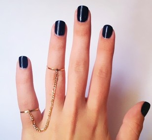 Free Shipping - wholesale ring Copper thin ring tassel chain double finger ring(China (Mainland))