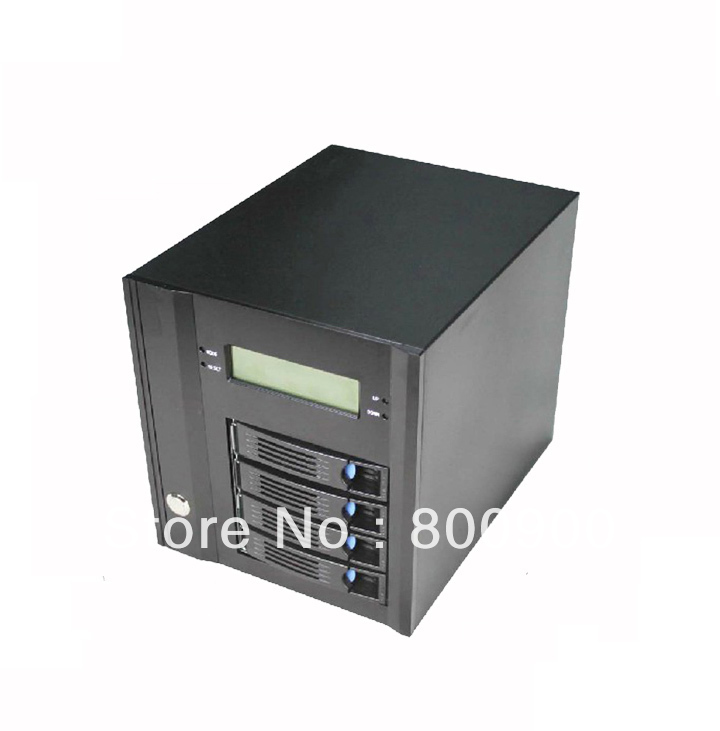 NAS storage server chassis small computer chassis small chassis four hot-swappable LED mini itx case<br><br>Aliexpress