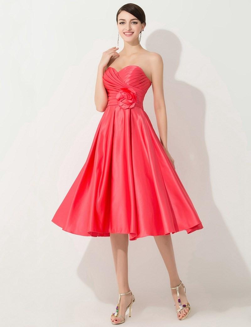 Cheap Coral Colored Bridesmaid Dresses Bridesmaid