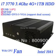 Promotion pc mit i7 with quad core 3770 3.4Ghz 4G RAM 1TB HDD USB 3.0 HDMI VGA DVI Windows 7 X64(China (Mainland))