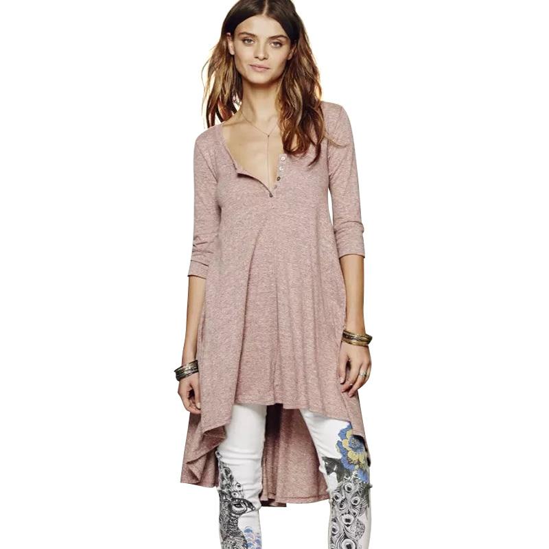 Aliexpress.com  Buy LJ5 Fashion Summer Women Punk Style Cotton Long T Shirt Dresses Vintage ...
