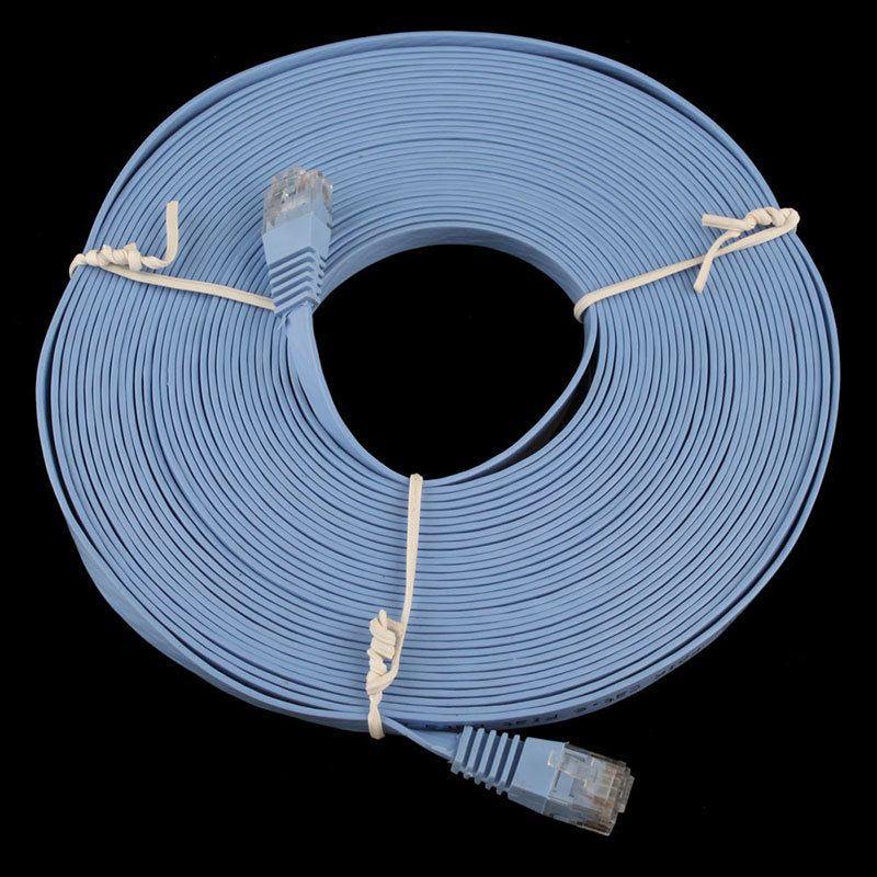 New 30FT 10M CAT6 CAT 6 Flat UTP Ethernet Network Cable RJ45 Patch LAN Cord #22819(China (Mainland))