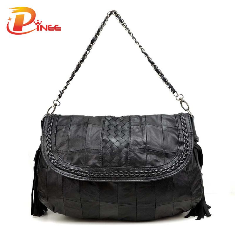 Vintage Famous Designer Brand Bags Women Leather Handbags Genuine Leather Tassel Lady Bag(China (Mainland))