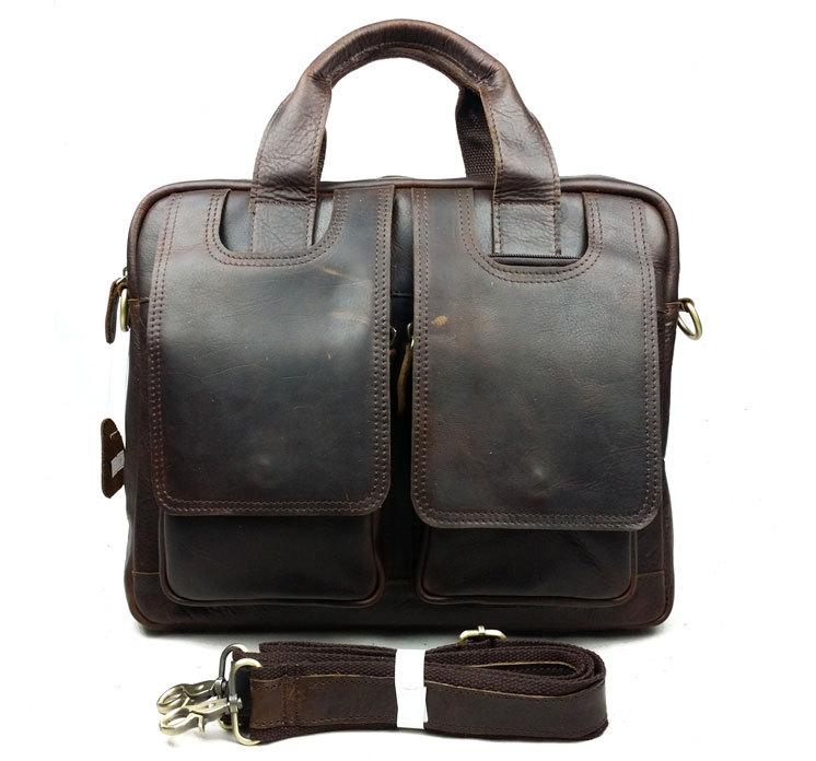 2015 New Fashion Genuine Leather Bags for Men famous brand  Mens Shoulder Bag Leather Messenger Bag,Mens leather computer bag<br><br>Aliexpress