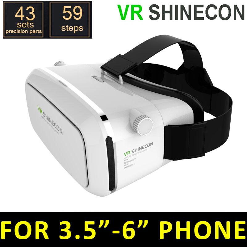 ВР Shinecon Моук виртуальной реальности, 3D-очки, Гарнитура oculus Рифт голову Смонтировать 3D фильмы игры софт 2015 Google картон 2.0