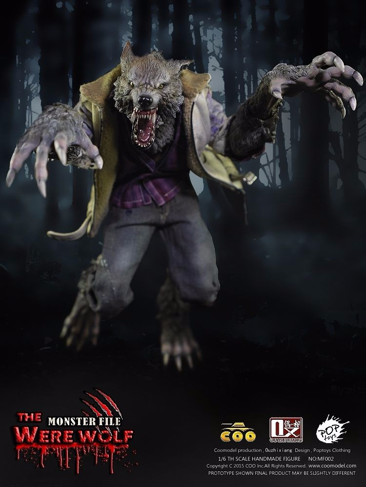 COOMODEL 1/6 Scale The Monster File Had been Wolf TWO Heads Motion Determine Statue Colletions Mannequin Toys Reward