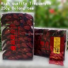 250g Top grade Chinese Oolong tea TiKuanYin Green Tea Weight Loss Anxi Tie Guan Yin Fresh China Tieguanyin tea Free shipping(China (Mainland))