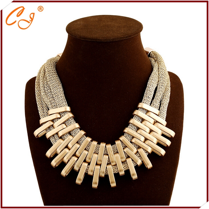 product Exaggerated trend multilayer golden tassels cotton rope necklace speed sell tong popular adorn article