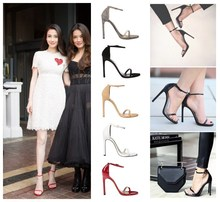 New arrived Vogue 5 Color Summer women T-stage Classic Dancing High Heel Sandals Sexy Stiletto/Party wedding shoes/free shipping