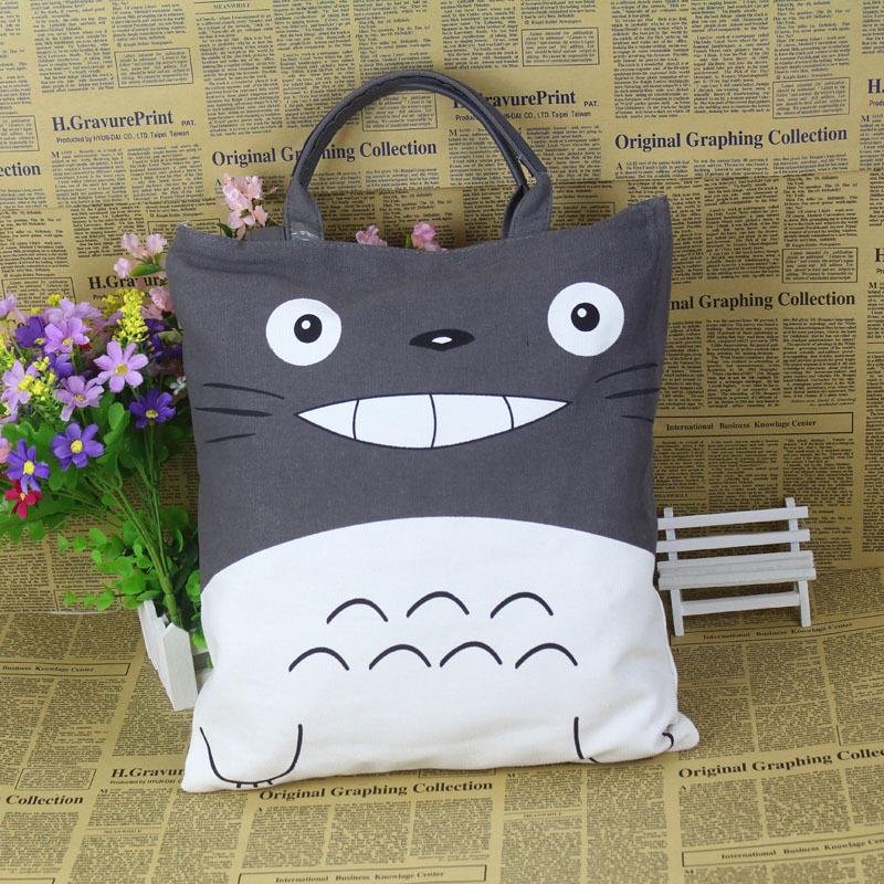 2015 Hot Sale Totoro Girls Handbag Pretty Women Shoulder Bags Casual Styles Canvas Soft Totes(China (Mainland))