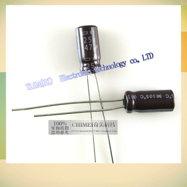 New Original electrolytic capacitors 47UF 25V capacitor electronic components 3C digital accessoriesFree shipping(China (Mainland))