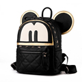 New Women Backpack PU Leather Cartoon Mickey Backpack Fashion Rivet bags Japan and Korean style Backpack