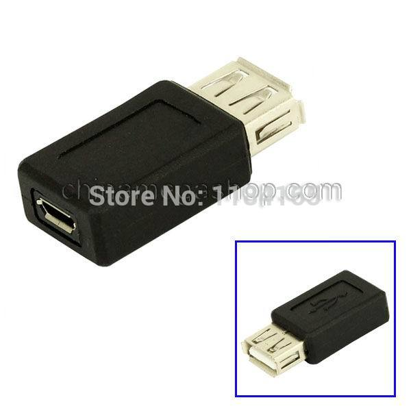High Quality USB 2.0 AF to Micro USB Female Cable Adapter(China (Mainland))