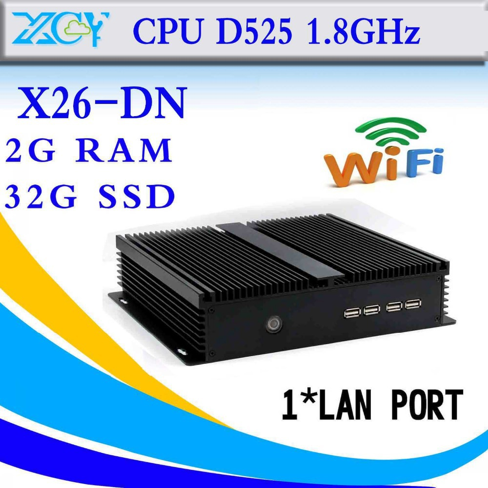 The highest ratio of industrial embedded pc D525 fanless embedded box pc computer networking support touch screen(China (Mainland))