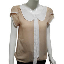 Bow Women shirt blouses plus size elegant body chiffon peter pan collar blouse cute 3xl 4xl xxxl blusa blouse WC040(China (Mainland))