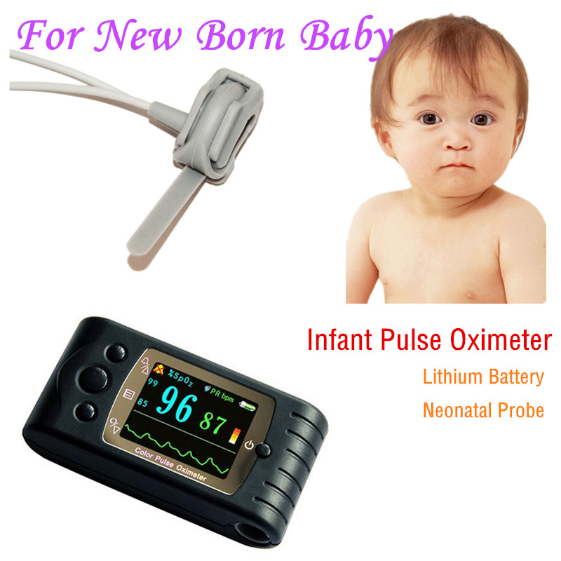 Infant Pulse Oximeter Child Pulse Oximeter with Neonatal Probe SPO2 Sensor Rechargeable Battery(China (Mainland))