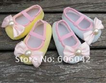 32pairs/lot  Lovely  pink bow Baby Infant Prewalker shoes,Mary Jane Christening walking  baby shoes(China (Mainland))