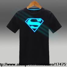 Mens t shirts fashion 2015,EXO,Hood By Air,HBA,Superman,Batman,Ironman,Shield,The Flash,Headphone glow in the dark t-shirt GC936