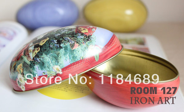 Free Shipping 8 pieces/lot Different Design 11*6.5*7.5cm Fashion Wedding Supplies Candy Packaging Candy Box Tin Easter Day Eggs(China (Mainland))