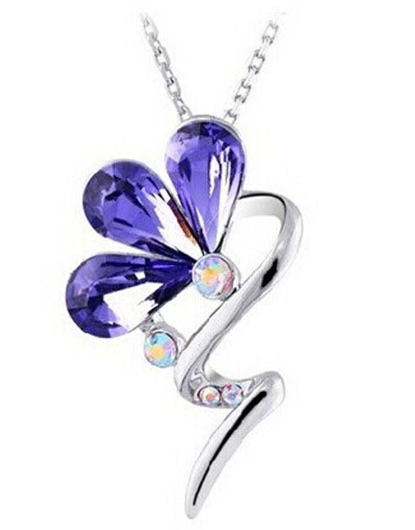 Manufacturers selling new trilobites South Korea fashionable woman short paragraph crystal pendant necklaces wholesale(China (Mainland))