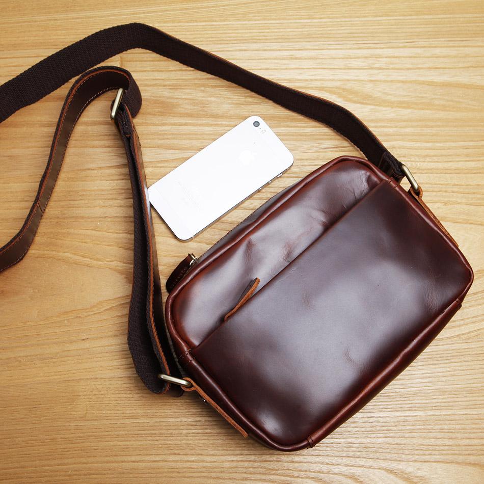 LAN free shipping men's leather shoulder bag genuine leather small bag men's messenger bag single shoulder bag